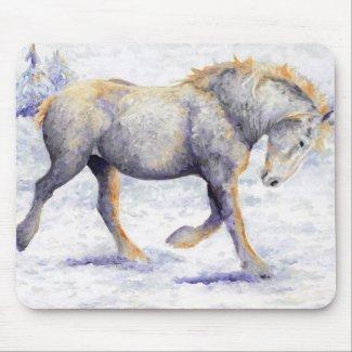 Joy - Percheron Horse Mouse Pad mousepad