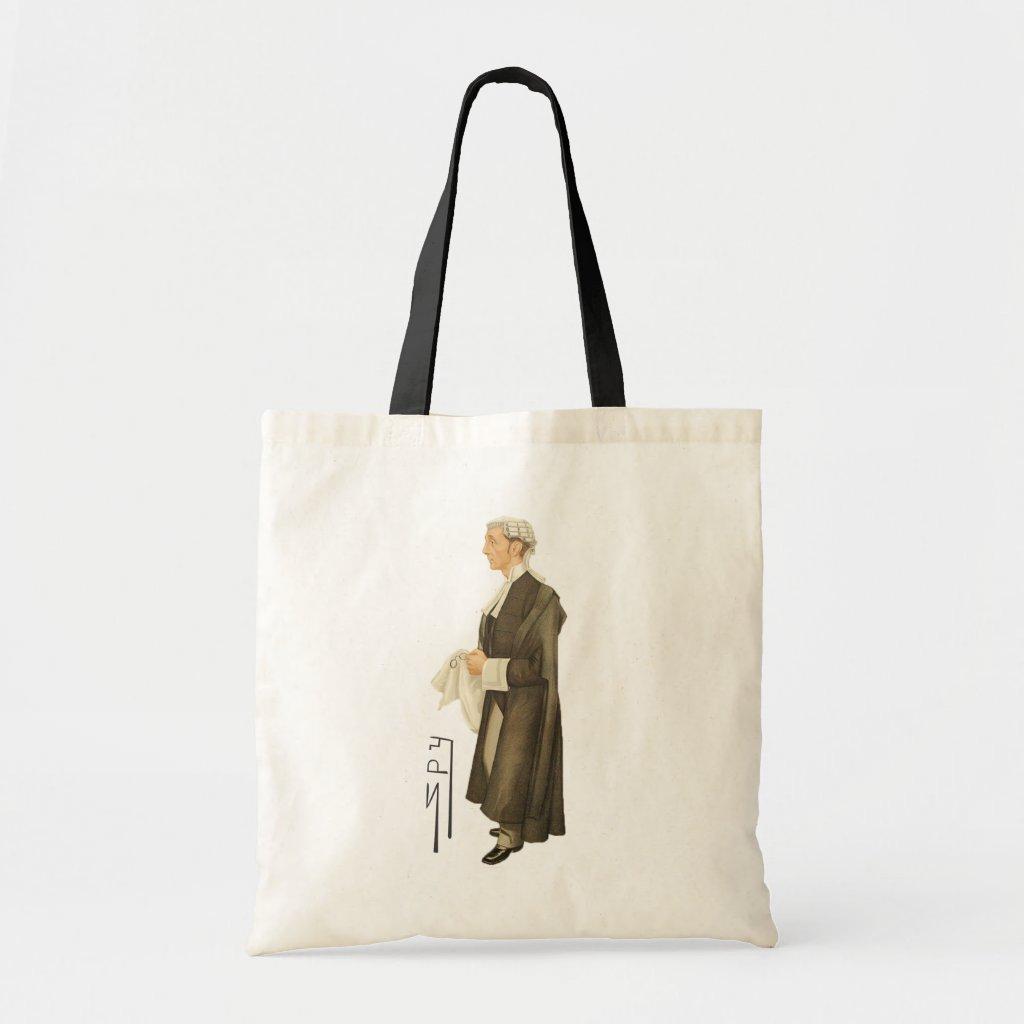 Judge Spy Print Canvas Tote Bag