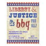 ❤️ July 4th Independence Day BBQ Picnic Invitation