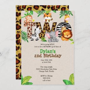 jungle theme birthday invitations zazzle