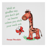 Jungle Diva Giraffe Quote Poster