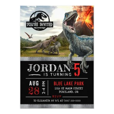 Jurassic World | Dinosaur Birthday Invitation