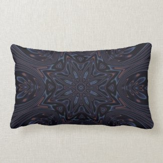 Kaleidoscope 2 (black) abstract Pillows mojo_throwpillow