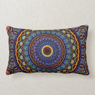 Kaleidoscope 4 abstract (stained glass) Pillows mojo_throwpillow