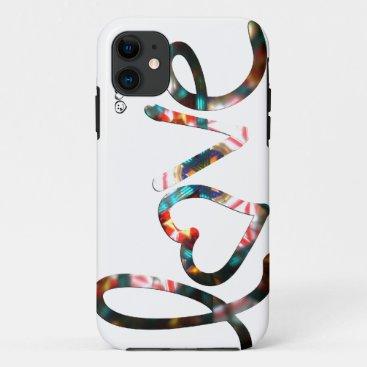 "Kaleidoscope ""love"" iPhone 11 case"