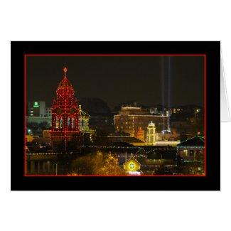 Kansas City Plaza Lights Greeting Cards