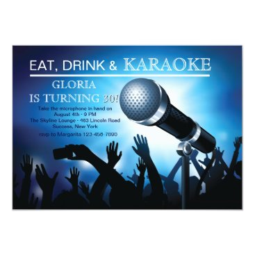 Karaoke Night Adult Birthday Party Invitation