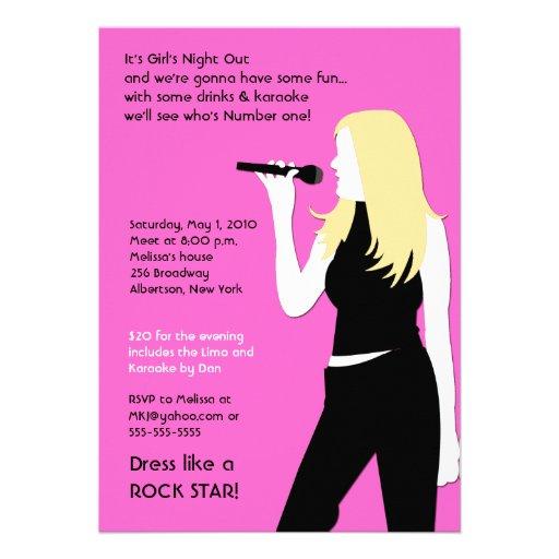 Karaoke invitation wording girls night stopboris Gallery