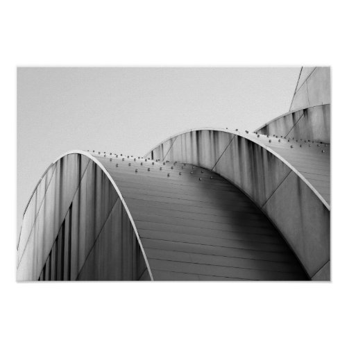 Kauffman Center Black and White Curves Kansas City Posters