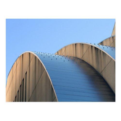 Kauffman Center Blue Curves, Kansas City Postcards