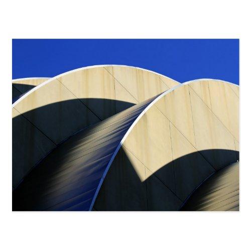 Kauffman Center Curves and Shadows, Kansas City Post Card