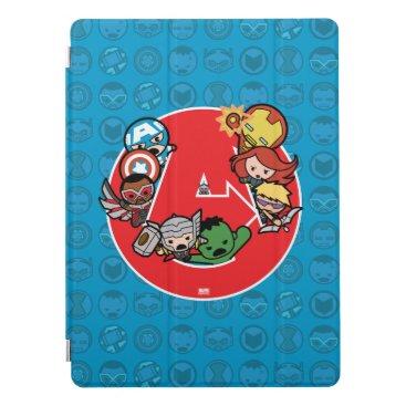 Kawaii Avengers Inside A-Logo iPad Pro Cover