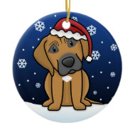 Kawaii Cartoon Rhodesian Ridgeback Christmas ornament
