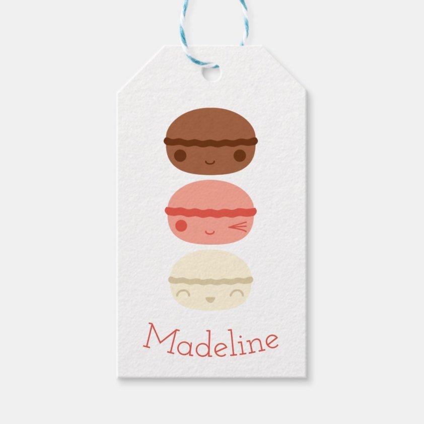 Kawaii Neapolitan Macarons Gift Tags