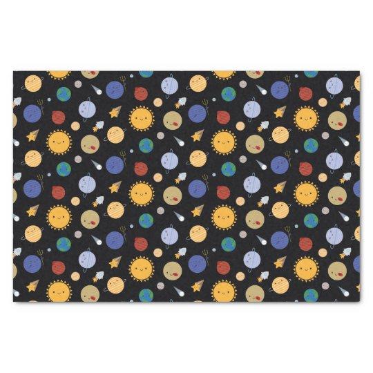 Kawaii Solar System Tissue Paper | Zazzle.com
