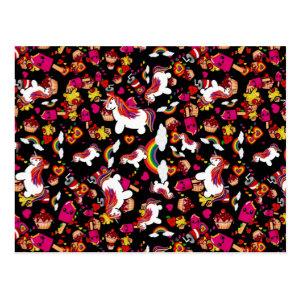 Kawaii Unicorns Rainbows Cupcakes Pattern by LeahG Postcard