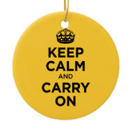Keep Calm and Carry on Christmas Tree Ornament