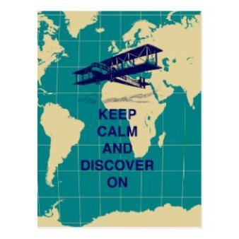 Keep Calm and Discover On motivational fun print