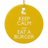 KEEP CALM AND EAT A BURGER