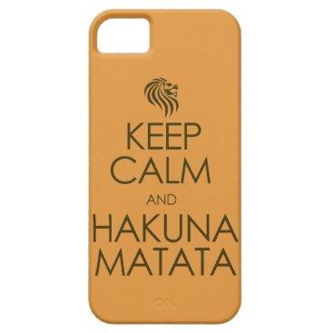 Keep Calm and Hakuna Matata iPhone SE/5/5s Case