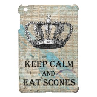 Keep Calm Eat Scones Vintage Abstract Art Grunge iPad Mini Case