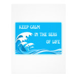 Keep Calm In The Seas Of Life letterhead