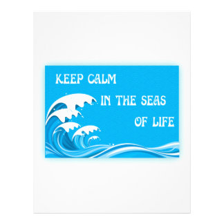 Keep Calm In The Seas Of Life Personalized Letterhead