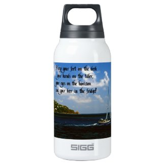 Keep your beer cold 10 oz insulated SIGG thermos water bottle
