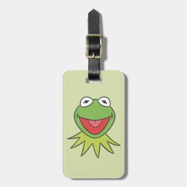 Kermit the Frog Cartoon Head Bag Tag
