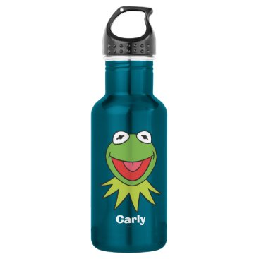 Kermit the Frog Cartoon Head Water Bottle