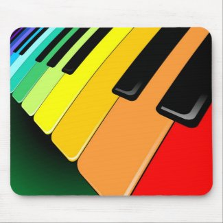 Keyboard Music Party Colors Mousepads