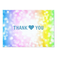 Kids Birthday Party Thank You Note Unicorn Rainbow Card