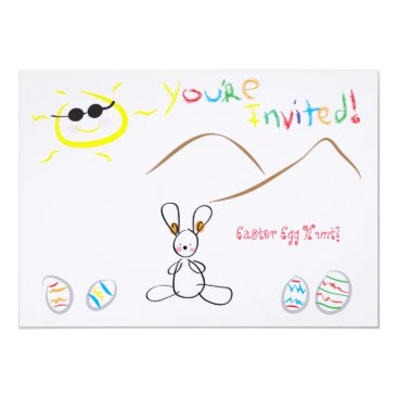 Kids Drawing Easter Egg Hunt Invitation