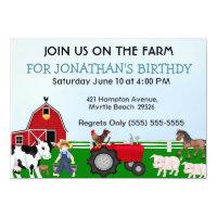 Kids Farm Birthday Invitation