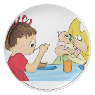 "Toddler Plate from ""I Have No Book; I Am Too Small"