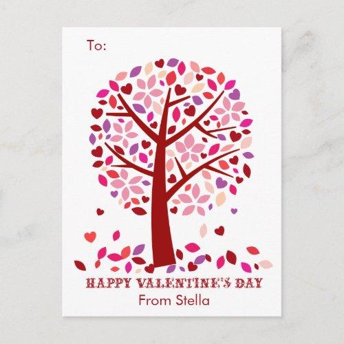 Kids School Classroom Valentine Cards Tree of Love