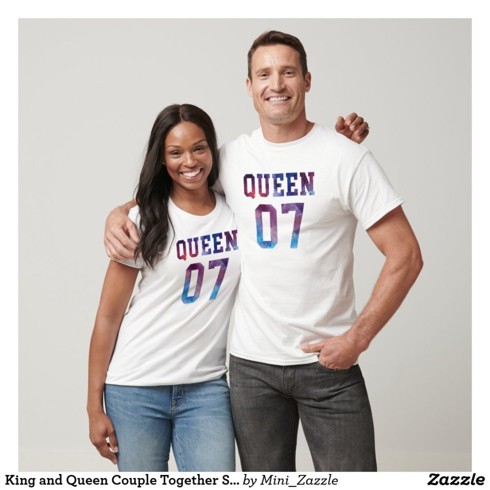 King and Queen Couple Together Since 2007 T-Shirt