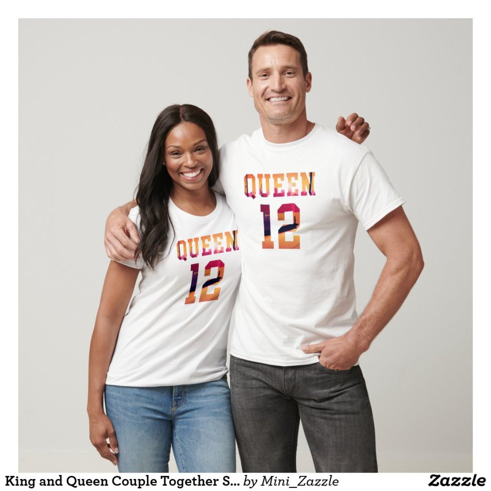 King and Queen Couple Together Since 2012 Apparel