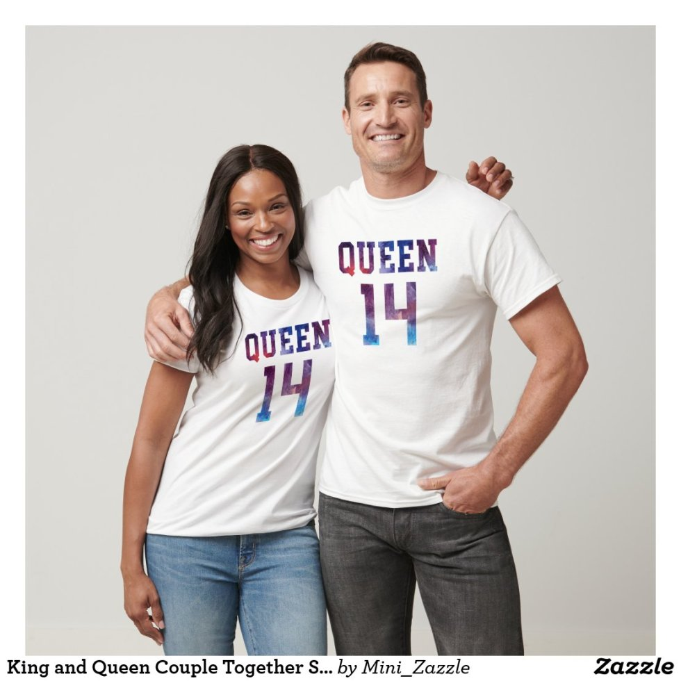 King and Queen Couple Together Since 2014 T-Shirt