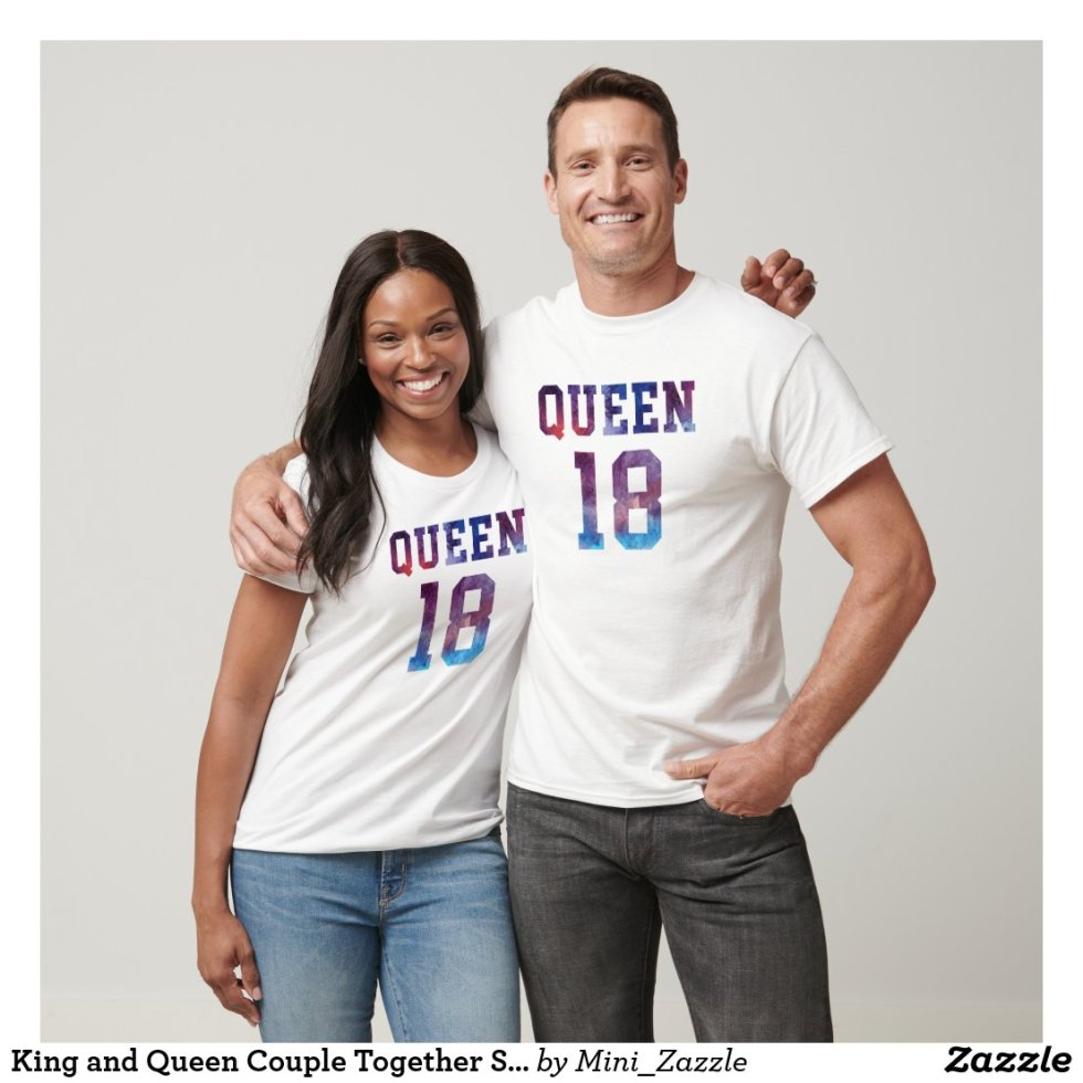 King and Queen Couple Together Since 2018 T-Shirt