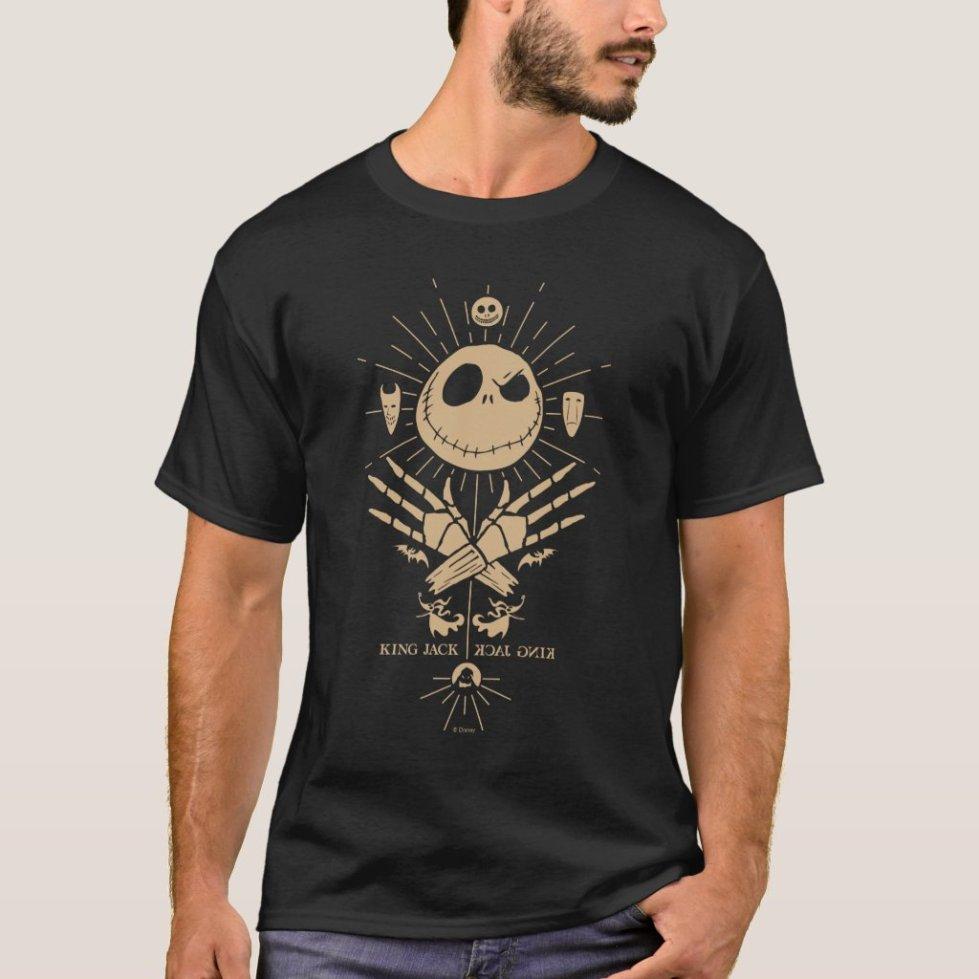 King Jack Skellington Vintage Tarot Graphic T-Shirt