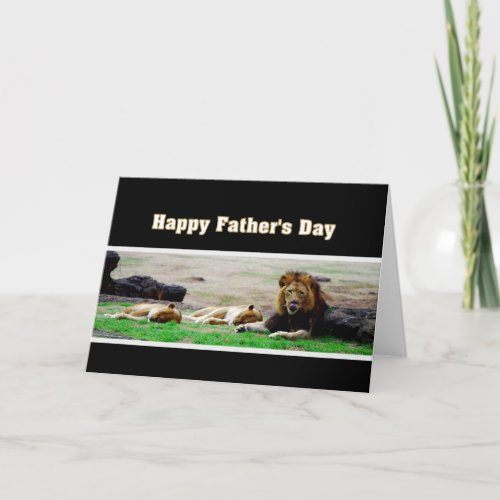 King of Beasts Happy Father's Day card