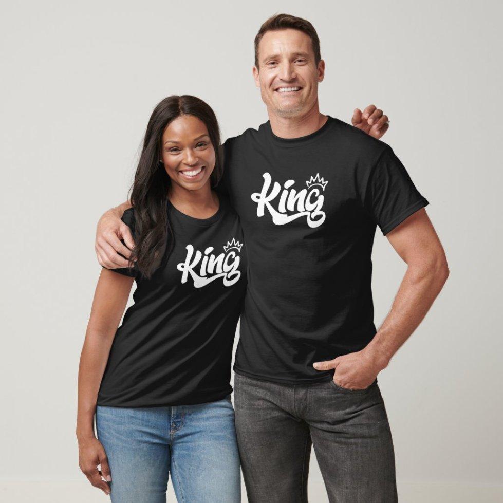Matching King Queen Couple Shirts