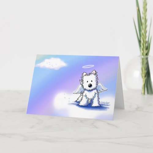 KiniArt Angel Westie Sympathy Card