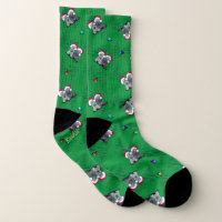 KiniArt Christmas Cesky Terriers Socks