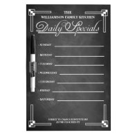 Kitchen Blackboard Dinner Menu Dry Erase Board