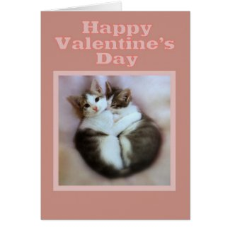 Kittens in Love Happy Valentine's Day Greeting Card