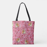 kitty cat lover tote bag