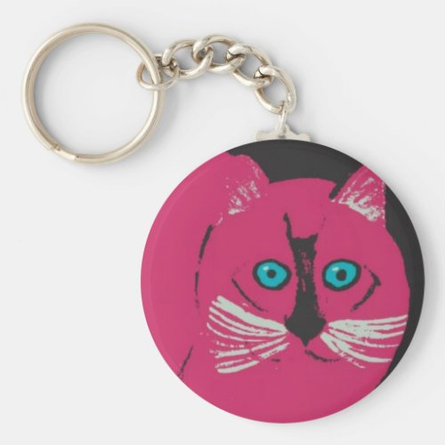 Kitty Painting Abstract Art Keychains