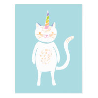 Kitty Unicorn Postcard